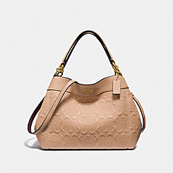 SMALL LEXY SHOULDER BAG IN SIGNATURE LEATHER - BEECHWOOD/LIGHT GOLD - COACH F28934