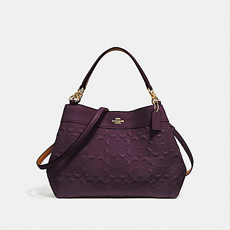 COACH SMALL LEXY SHOULDER BAG IN SIGNATURE LEATHER - OXBLOOD 1/LIGHT GOLD - F28934