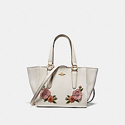 COACH F28940 - CROSBY CARRYALL 21 WITH HAWAIIAN FLORAL EMBROIDERY CHALK MULTI/IMITATION GOLD