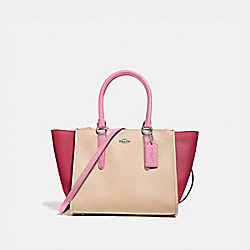 CROSBY CARRYALL IN COLORBLOCK - SILVER/PINK MULTI - COACH F28943