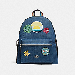CHARLIE BACKPACK WITH BLUE HAWAII PATCHES - SVM64 - COACH F28958
