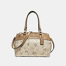 MINI BROOKE CARRYALL IN SIGNATURE CANVAS WITH DAISY BUNDLE PRINT - LIGHT KHAKI/MULTI/IMITATION GOLD - COACH F28964