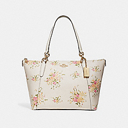 AVA TOTE WITH FLORAL BUNDLE PRINT - CHALK MULTI/IMITATION GOLD - COACH F28965