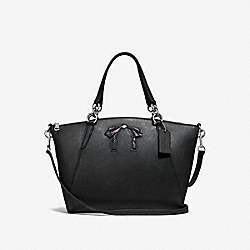 SMALL KELSEY SATCHEL WITH BOW - SILVER/MIDNIGHT - COACH F28969
