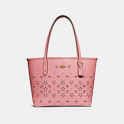MINI CITY ZIP TOTE - VINTAGE PINK/IMITATION GOLD - COACH F28971