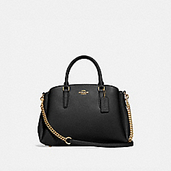 SAGE CARRYALL - BLACK/LIGHT GOLD - COACH F28976