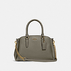 MINI SAGE CARRYALL - MILITARY GREEN/GOLD - COACH F28977