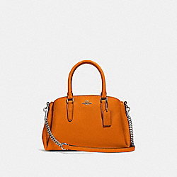 MINI SAGE CARRYALL - DARK ORANGE/SILVER - COACH F28977