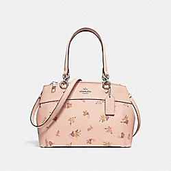MINI BROOKE CARRYALL WITH DAISY BUNDLE PRINT - LIGHT PINK MULTI/SILVER - COACH F28978