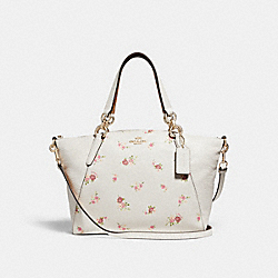 SMALL KELSEY SATCHEL WITH DAISY BUNDLE PRINT - CHALK MULTI/IMITATION GOLD - COACH F28980