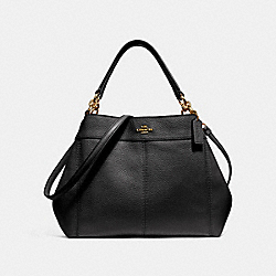 COACH SMALL LEXY SHOULDER BAG - BLACK/IMITATION GOLD - F28992