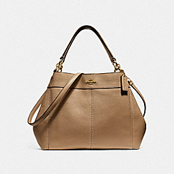 SMALL LEXY SHOULDER BAG - LIGHT SADDLE/LIGHT GOLD - COACH F28992