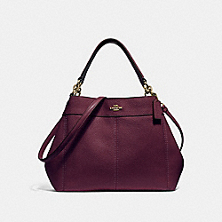 SMALL LEXY SHOULDER BAG - RASPBERRY/LIGHT GOLD - COACH F28992