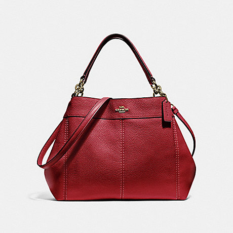COACH SMALL LEXY SHOULDER BAG - RUBY/LIGHT GOLD - F28992