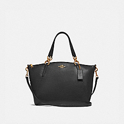 COACH SMALL KELSEY SATCHEL - BLACK/LIGHT GOLD - F28993