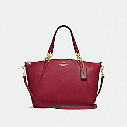 SMALL KELSEY SATCHEL - CHERRY /LIGHT GOLD - COACH F28993