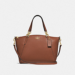 SMALL KELSEY SATCHEL - SADDLE 2/LIGHT GOLD - COACH F28993