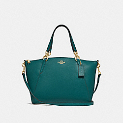 SMALL KELSEY SATCHEL - DARK TURQUOISE/LIGHT GOLD - COACH F28993