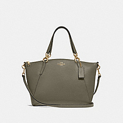 SMALL KELSEY SATCHEL - MILITARY GREEN/GOLD - COACH F28993