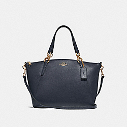 SMALL KELSEY SATCHEL - MIDNIGHT/GOLD - COACH F28993