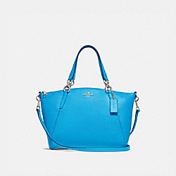 SMALL KELSEY SATCHEL - BRIGHT BLUE/SILVER - COACH F28993