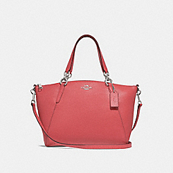 SMALL KELSEY SATCHEL - CORAL/SILVER - COACH F28993