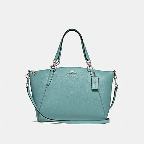 COACH SMALL KELSEY SATCHEL - MARINE/SILVER - F28993