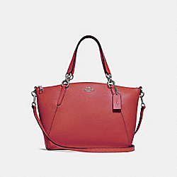 SMALL KELSEY SATCHEL - WASHED RED/SILVER - COACH F28993