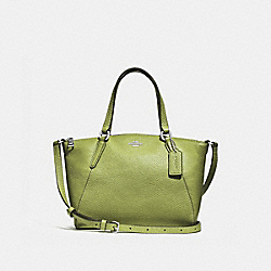 MINI KELSEY SATCHEL - YELLOW GREEN/SILVER - COACH F28994