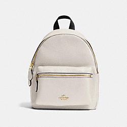 COACH MINI CHARLIE BACKPACK - CHALK/LIGHT GOLD - F28995