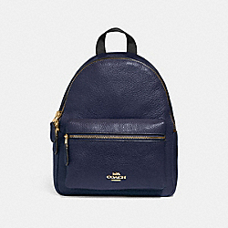 MINI CHARLIE BACKPACK - MIDNIGHT/IMITATION GOLD - COACH F28995