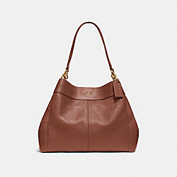 LEXY SHOULDER BAG - SADDLE 2/LIGHT GOLD - COACH F28997