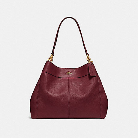 COACH LEXY SHOULDER BAG - WINE/IMITATION GOLD - F28997
