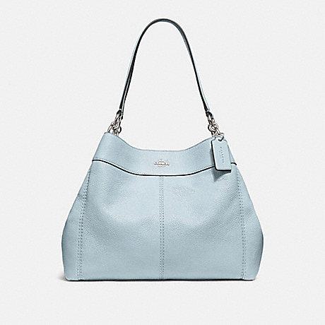 COACH LEXY SHOULDER BAG - SILVER/PALE BLUE - f28997