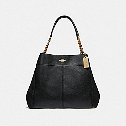 LEXY CHAIN SHOULDER BAG - BLACK/LIGHT GOLD - COACH F28998