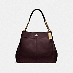 LEXY CHAIN SHOULDER BAG - OXBLOOD 1/LIGHT GOLD - COACH F28998