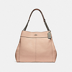 LEXY CHAIN SHOULDER BAG - SILVER/LIGHT PINK - COACH F28998