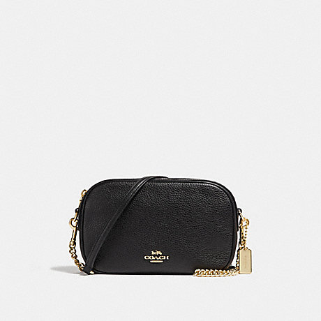 COACH ISLA CHAIN CROSSBODY - BLACK/LIGHT GOLD - F29000