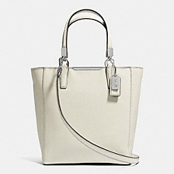 COACH MADISON SAFFIANO LEATHER MINI NORTH/SOUTH TOTE - ANTIQUE NICKEL/SOFT IVY - F29001