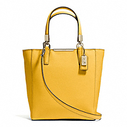 COACH MADISON  SAFFIANO LEATHER MINI NORTH/SOUTH TOTE - LIGHT GOLD/SUNGLOW - F29001