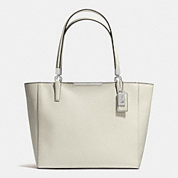 COACH MADISON SAFFIANO LEATHER EAST/WEST TOTE - ANTIQUE NICKEL/SOFT IVY - F29002