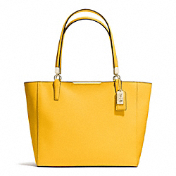 COACH MADISON SAFFIANO LEATHER EAST/WEST TOTE - LIGHT GOLD/SUNGLOW - F29002