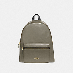 CHARLIE BACKPACK - MILITARY GREEN/GOLD - COACH F29004