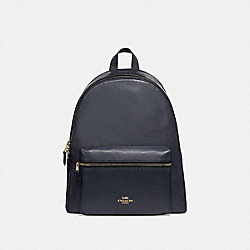 COACH CHARLIE BACKPACK - MIDNIGHT/light gold - F29004