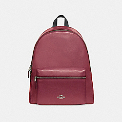 CHARLIE BACKPACK - SILVER/HOT PINK - COACH F29004