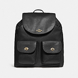 COACH BILLIE BACKPACK - BLACK/IMITATION GOLD - F29008