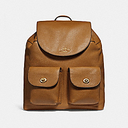 COACH BILLIE BACKPACK - LIGHT SADDLE/LIGHT GOLD - F29008
