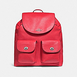 BILLIE BACKPACK - BRIGHT RED/SILVER - COACH F29008