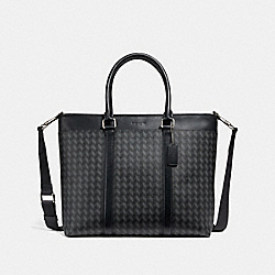 PERRY BUSINESS TOTE WITH HERRINGBONE PRINT - NINI7 - COACH F29032