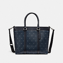 PERRY BUSINESS TOTE WITH FOUR DIAMOND FOULARD PRINT - NINI9 - COACH F29033